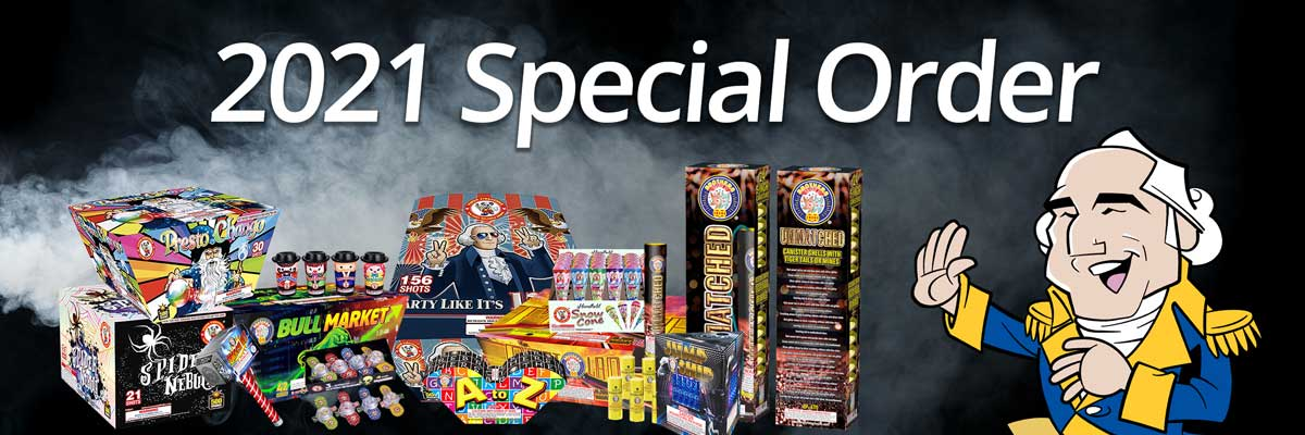 2021 Special Order - Our lowest wholesale fireworks prices