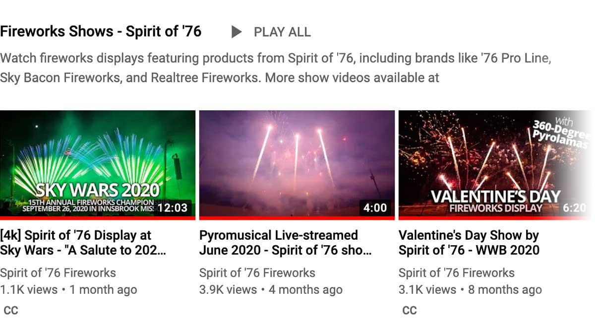 Fireworks Show Playlist