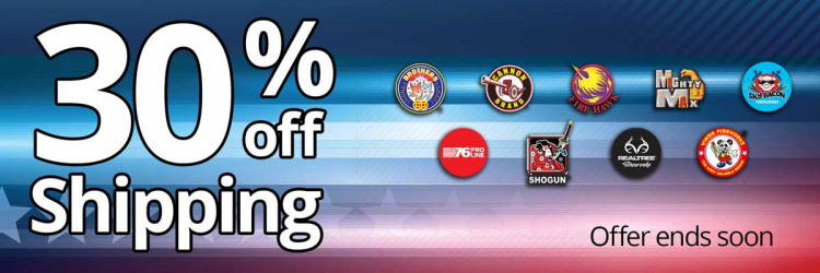 30% Off Fireworks Shipping