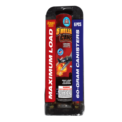 """5"""" Hellcat Cans (60-gram Canisters) Firework"""