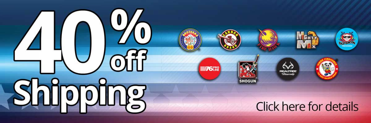 40% Off Fireworks Shipping
